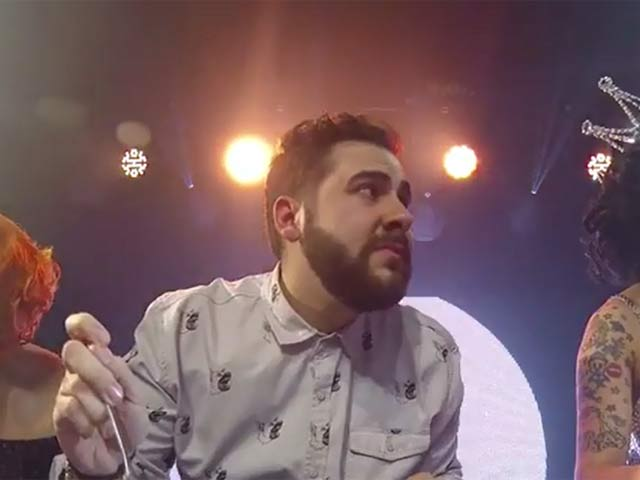 'The X Factor' Star Andrea Faustini's Pasta Eating World Record Attempt