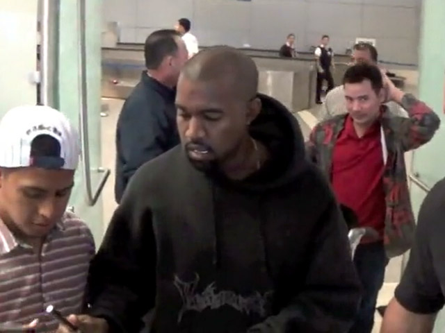 Kanye West Arrives At LAX: 'Obama DID Call Our House!'