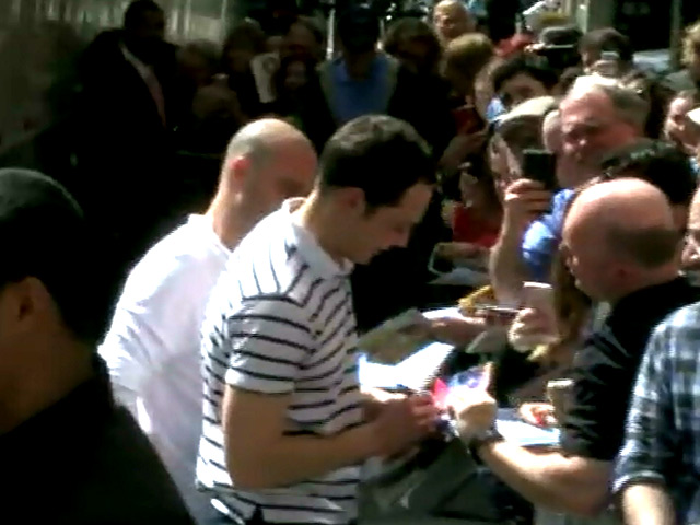 Jim Parsons Greets Fans Outside Broadway's Studio 54