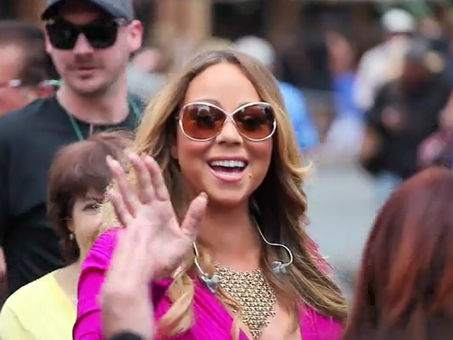 Mariah Carey Compliments Fan's Shirt As She Is Spotted In Disneyland